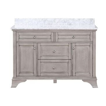 "Aurafina Wainwright 48"" Vanity with Top and Sink in Old Harbor Gray, , large"