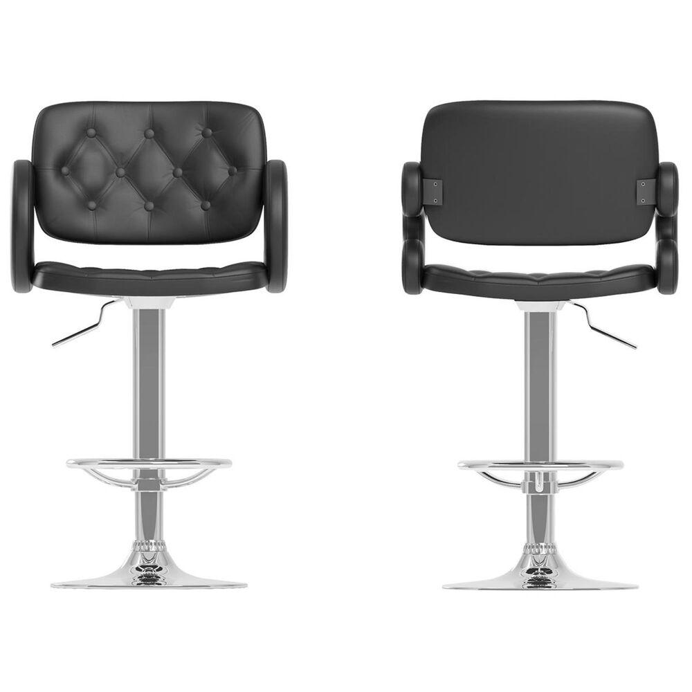 CorLiving Adjustable Barstool in Black (Set of 2), , large