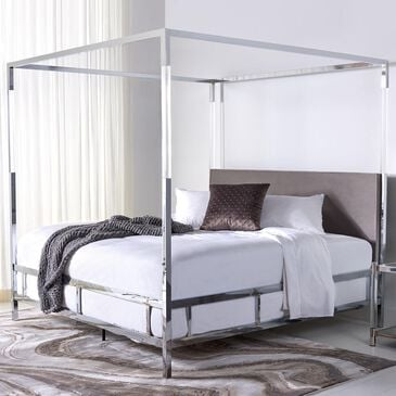 Safavieh Dorothy Queen Canopy Bed in Silver/Grey, , large