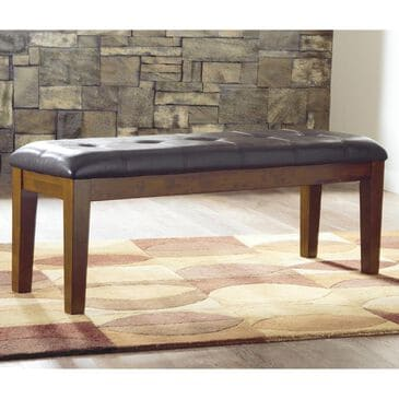 Signature Design by Ashley Ralene Large Upholstered Dining Room Bench in Medium Brown, , large