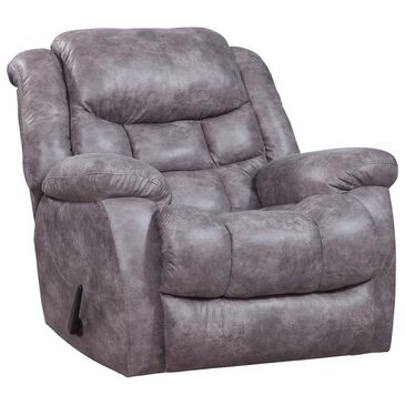 HomeStretch Blockbuster Manual Rocker Recliner in Pewter, , large