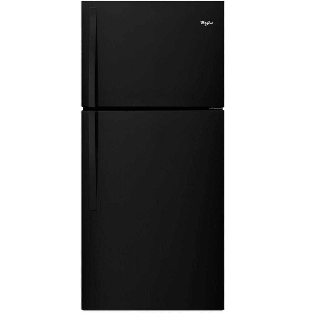 Whirlpool 19.2 Cu. Ft. Top Freezer Refrigerator with LED Interior Lighting in Black , , large