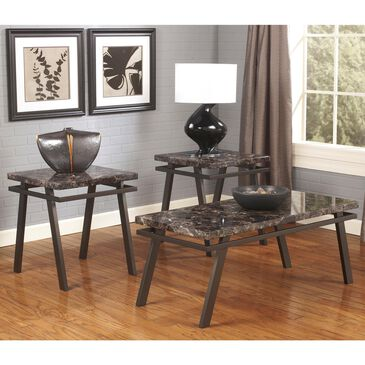Signature Design by Ashley Paintsville 3-Piece Occasional Table Set with Faux Marble Top, , large