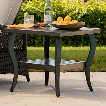 """Clear Creek Collection Riviera 24""""x 26"""" Slat Topped End Table in Deep Brown, , large"""