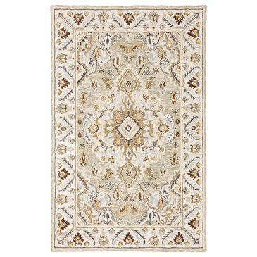 "Oriental Weavers Alfresco Medallion 28403 10"" x 13"" Ivory Area Rug, , large"