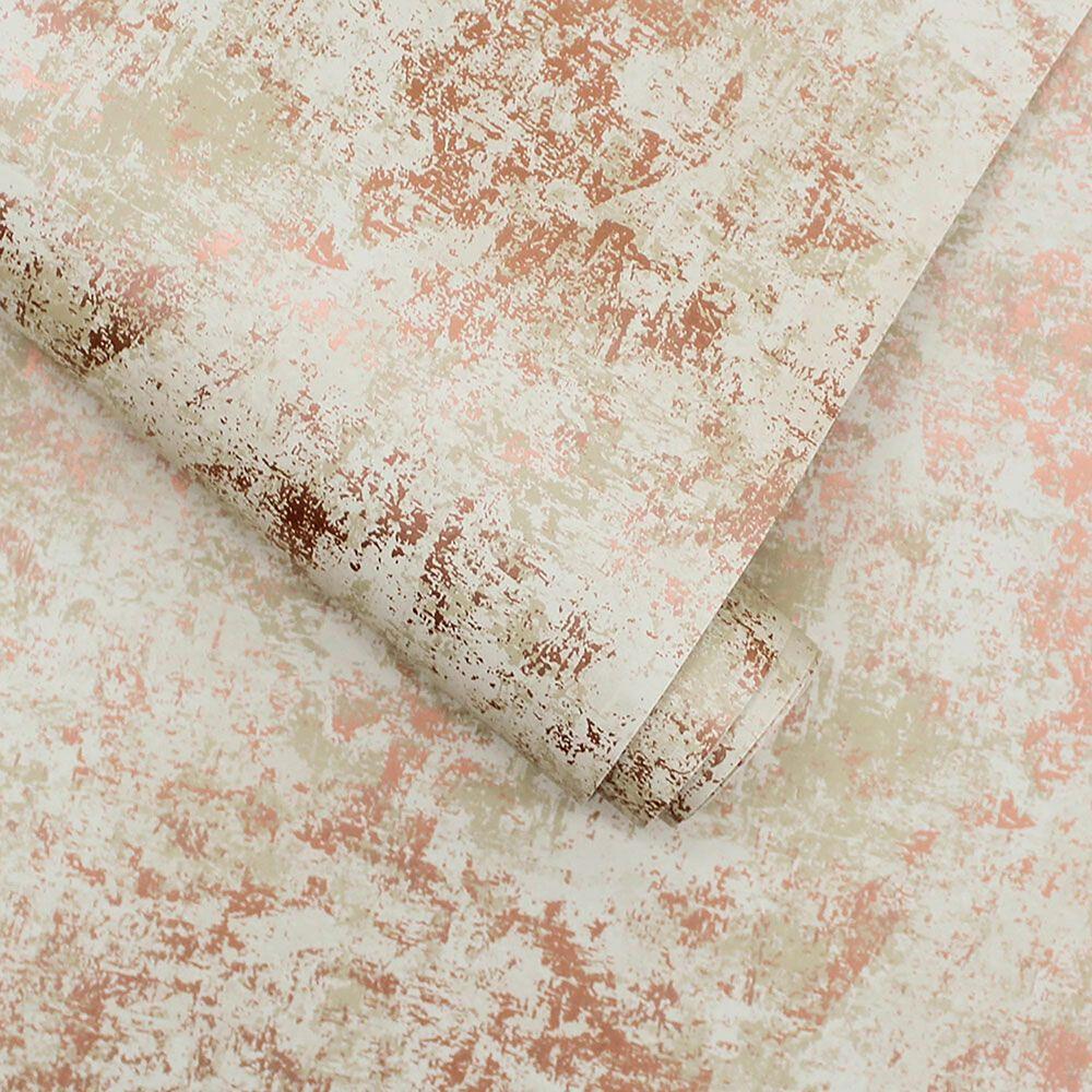 Tempaper Distressed Gold Leaf Rose Peel and Stick Wallpaper, , large