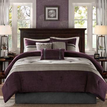 Hampton Park Palmer 7-Piece Queen Comforter Set in Purple, , large