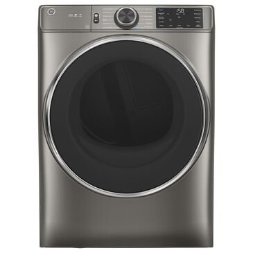GE Appliances 7.8 Cu. Ft. Electric Dryer with Steam Cycle in Satin Nickel, , large