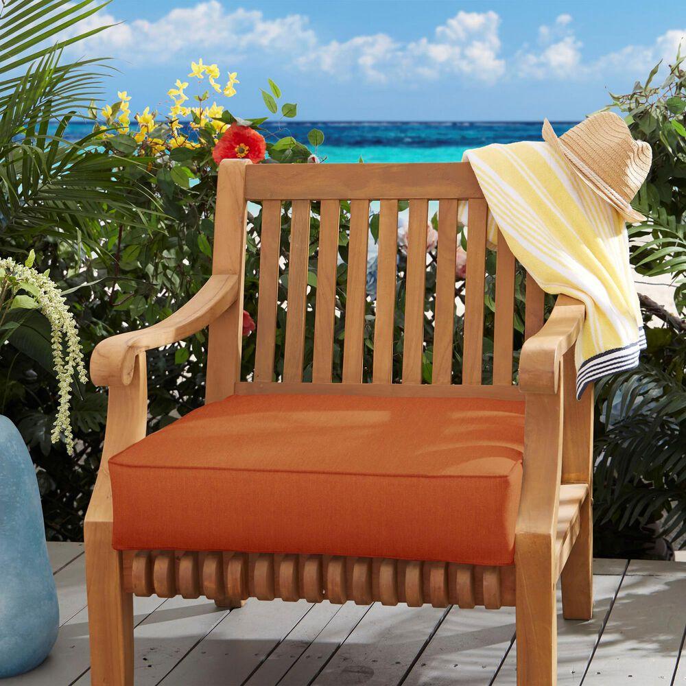 "Sorra Home Sunbrella 22.5"" Deep Seating Cushion in Canvas Rust, , large"