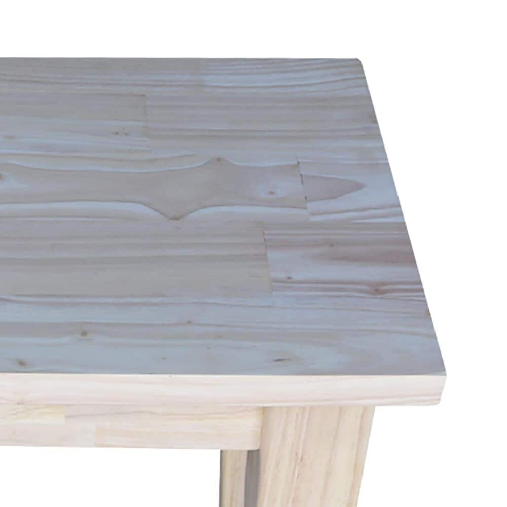 International Concepts Shaker Bench in Unfinished, , large