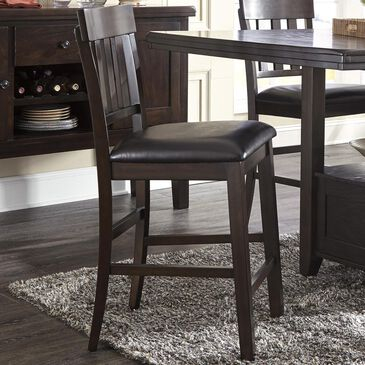 Signature Design by Ashley Haddigan Upholstered Counter Stool in Dark Brown, , large