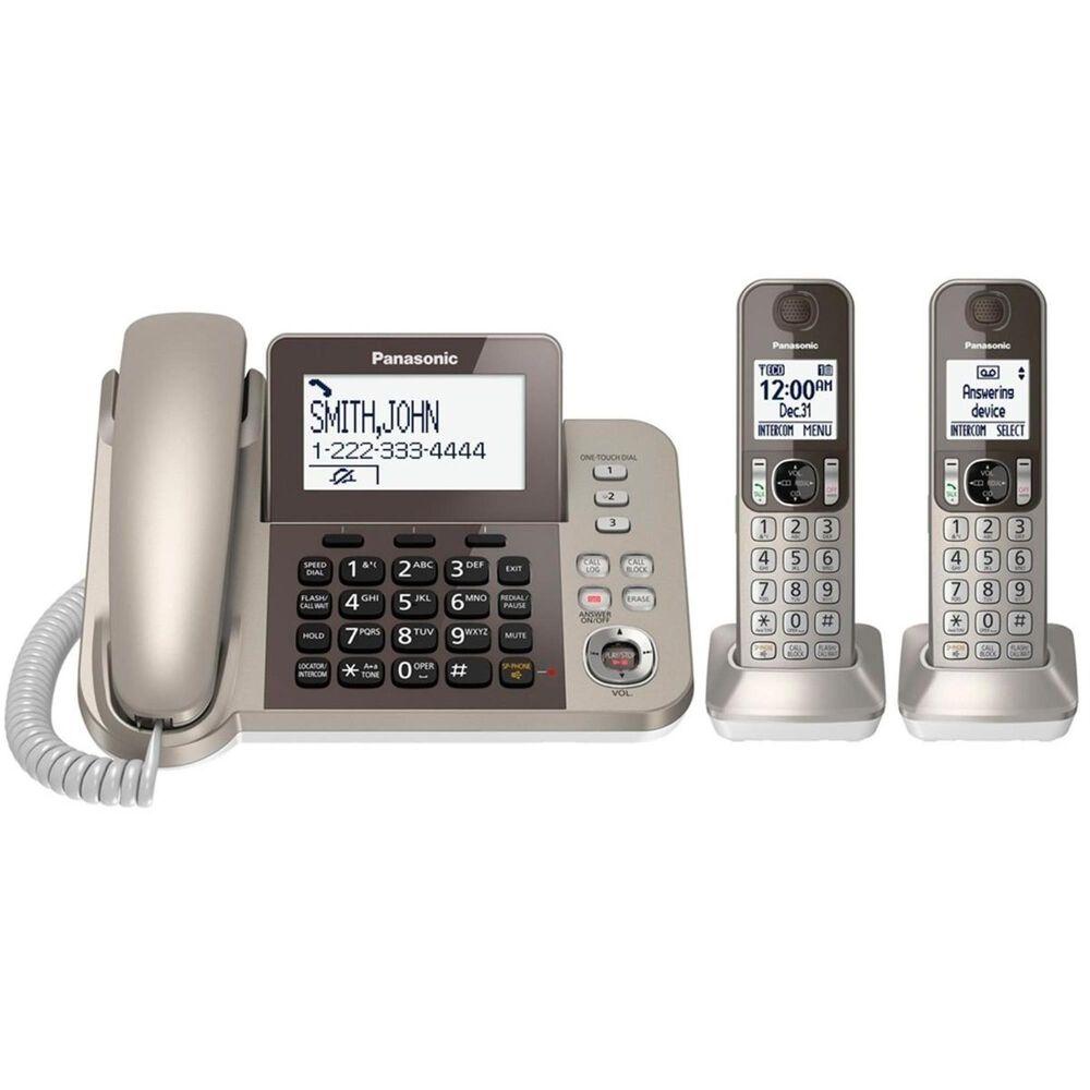 Panasonic Corded/Cordless Phone and Answering Machine - 2 Cordless Handsets, , large