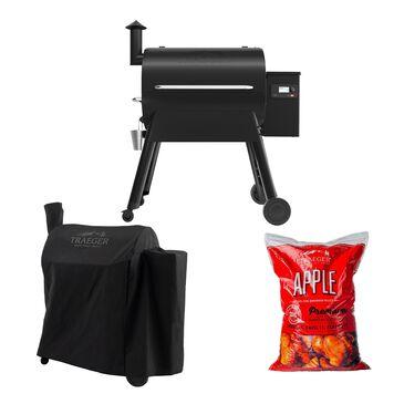 Traeger Grills Pro 780 Pellet Grill + Black Full Length Cover + AppleWood Pellets 20 lb Bag Package, , large