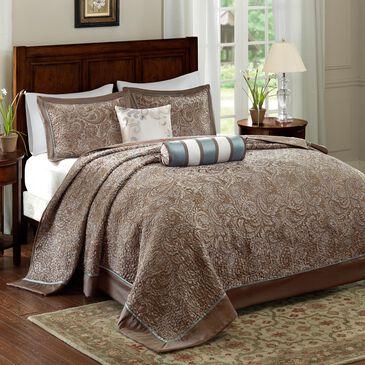 Hampton Park Aubrey 5-Piece Queen Reversible Bedspread Set in Blue, , large