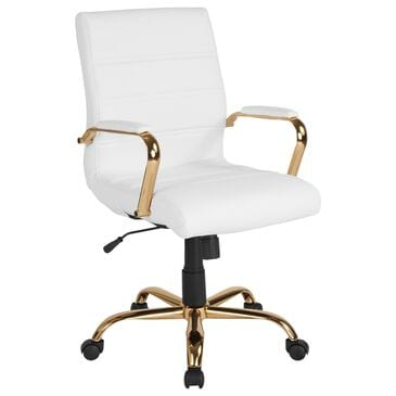 Flash Furniture Executive Swivel Chair in White, , large
