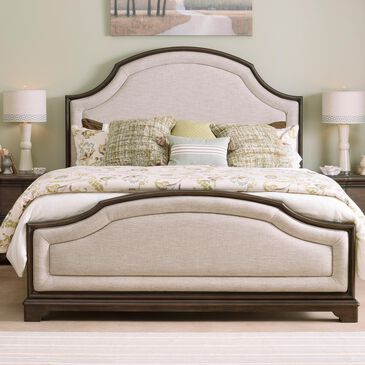 Legacy Classic Stafford Queen Upholstered Bed in Rustic Cherry, , large