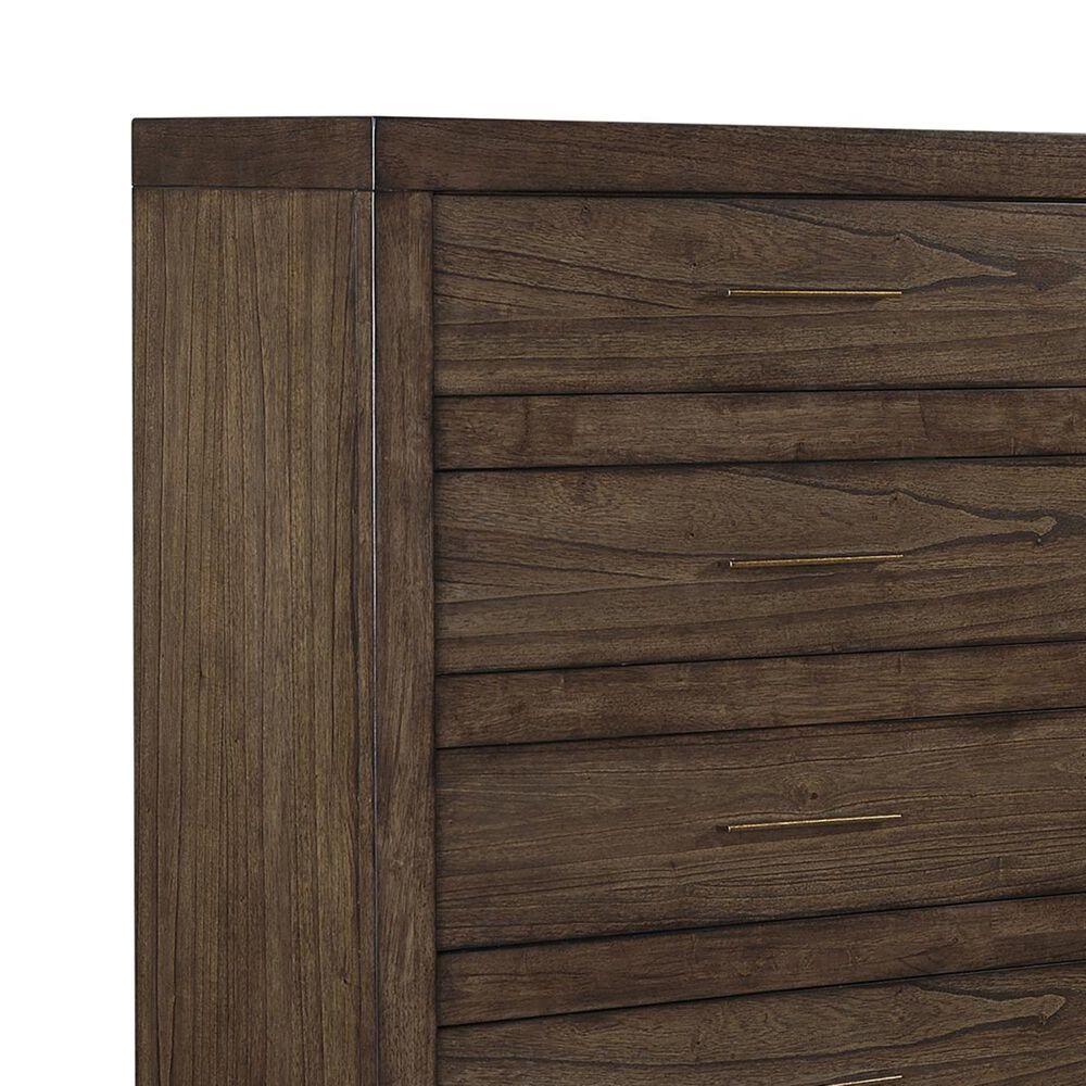 Riva Ridge Modern Loft 5 Drawer Chest in Brownstone, , large
