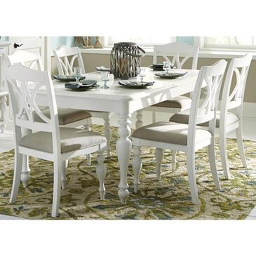 Belle Furnishings Summer House 7-Piece Rectangular Table Set in Oyster White, , large