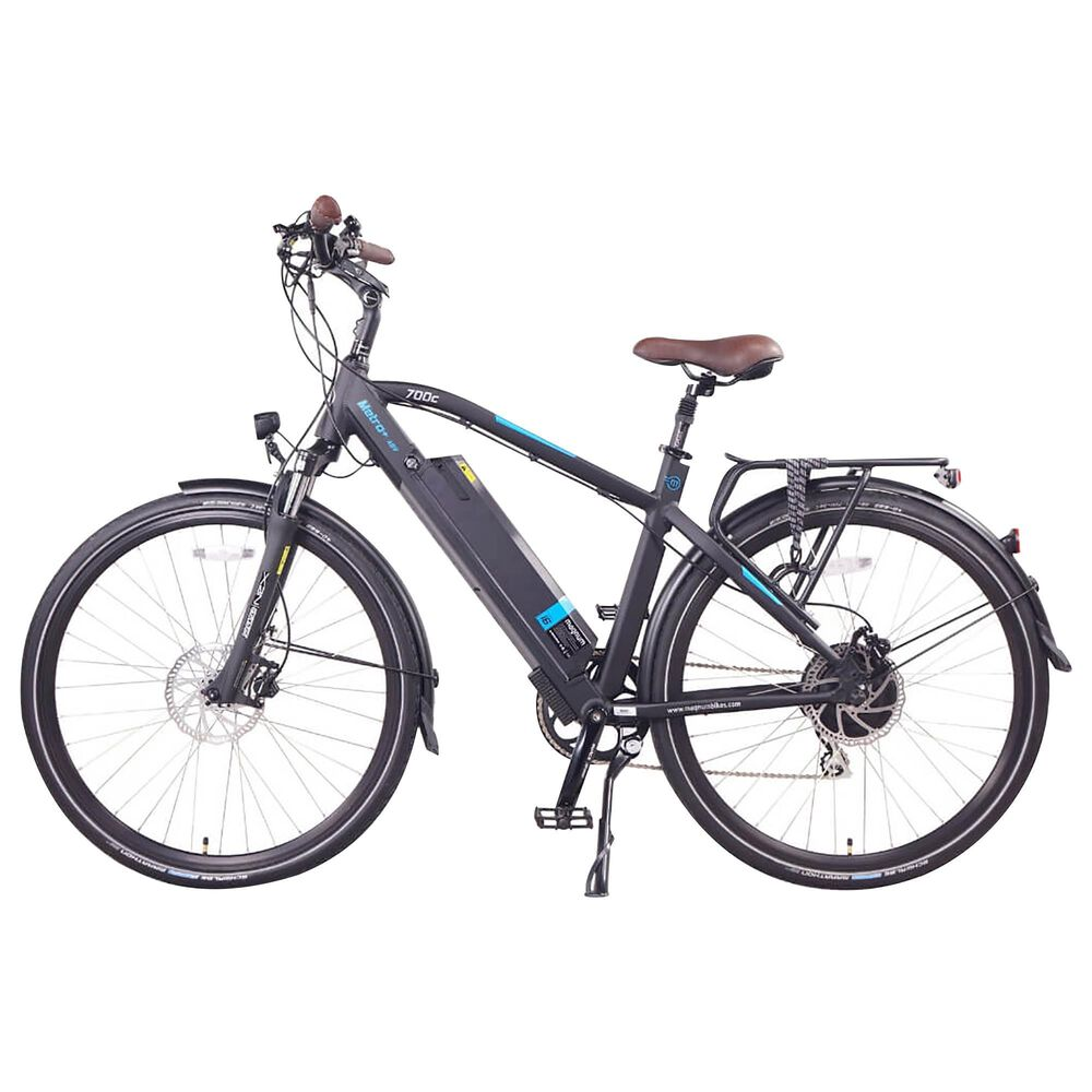 Magnum Metro+ E-bike with Smart Bluetooth Bicycle Helmet in Black, , large