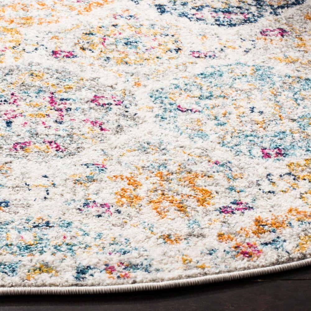 Safavieh Madison MAD611B 11' Round Multicolor Area Rug, , large
