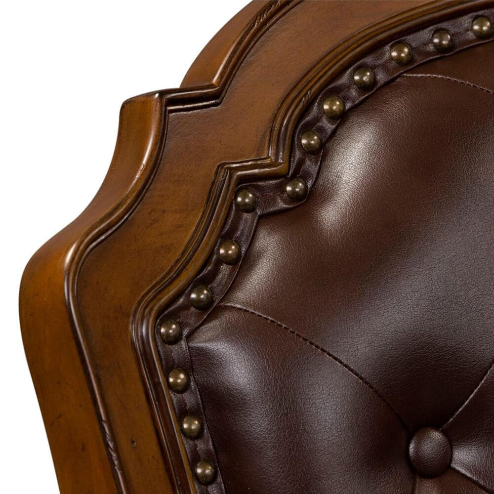 Belle Furnishings Amelia Jr Executive Office Chair in Brown Vinyl and  Antique Toffee, , large