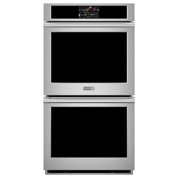 "Monogram 27"" Smart Electric Convection Double Wall Oven Statement Collection - Stainless Steel, , large"