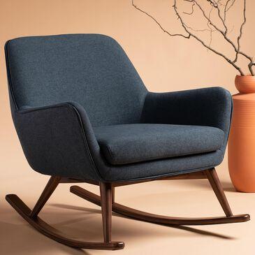 Safavieh Mack Rocking Chair in Blue, , large