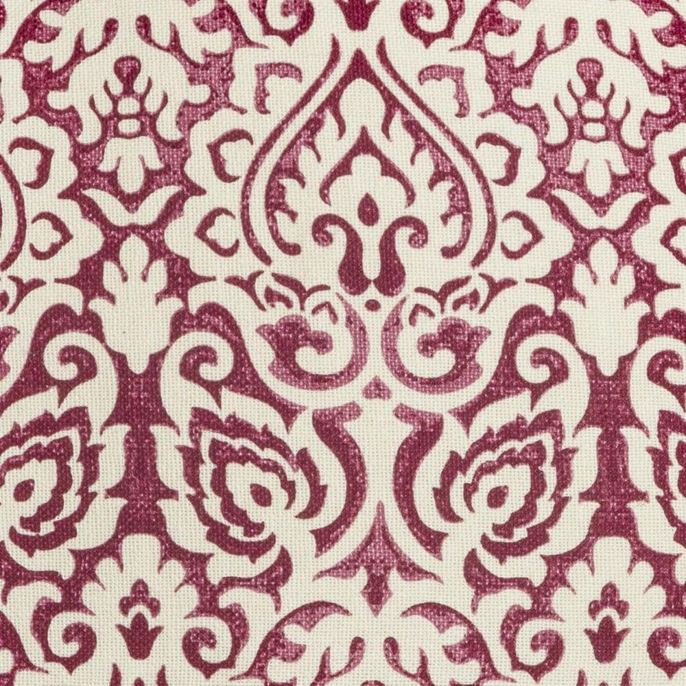 """Rizzy Home 22"""" x 22"""" Damask Down Pillow in Dark Pink and White, , large"""