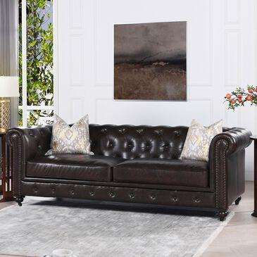 Jennifer Taylor Home Winston Sofa in Vintage Brown, , large