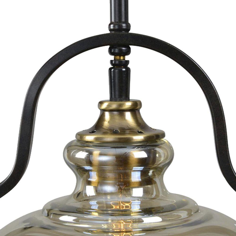 Uttermost Cotulla 1 Light Mini Pendant in Aged Black Iron/Antique Brass, , large