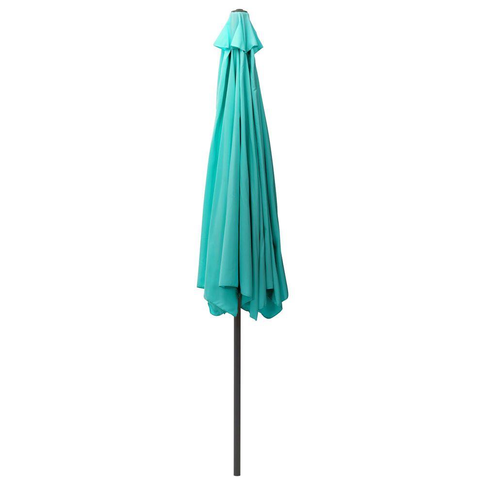 CorLiving 10' Round Tilting Patio Umbrella in Turquoise Blue, , large