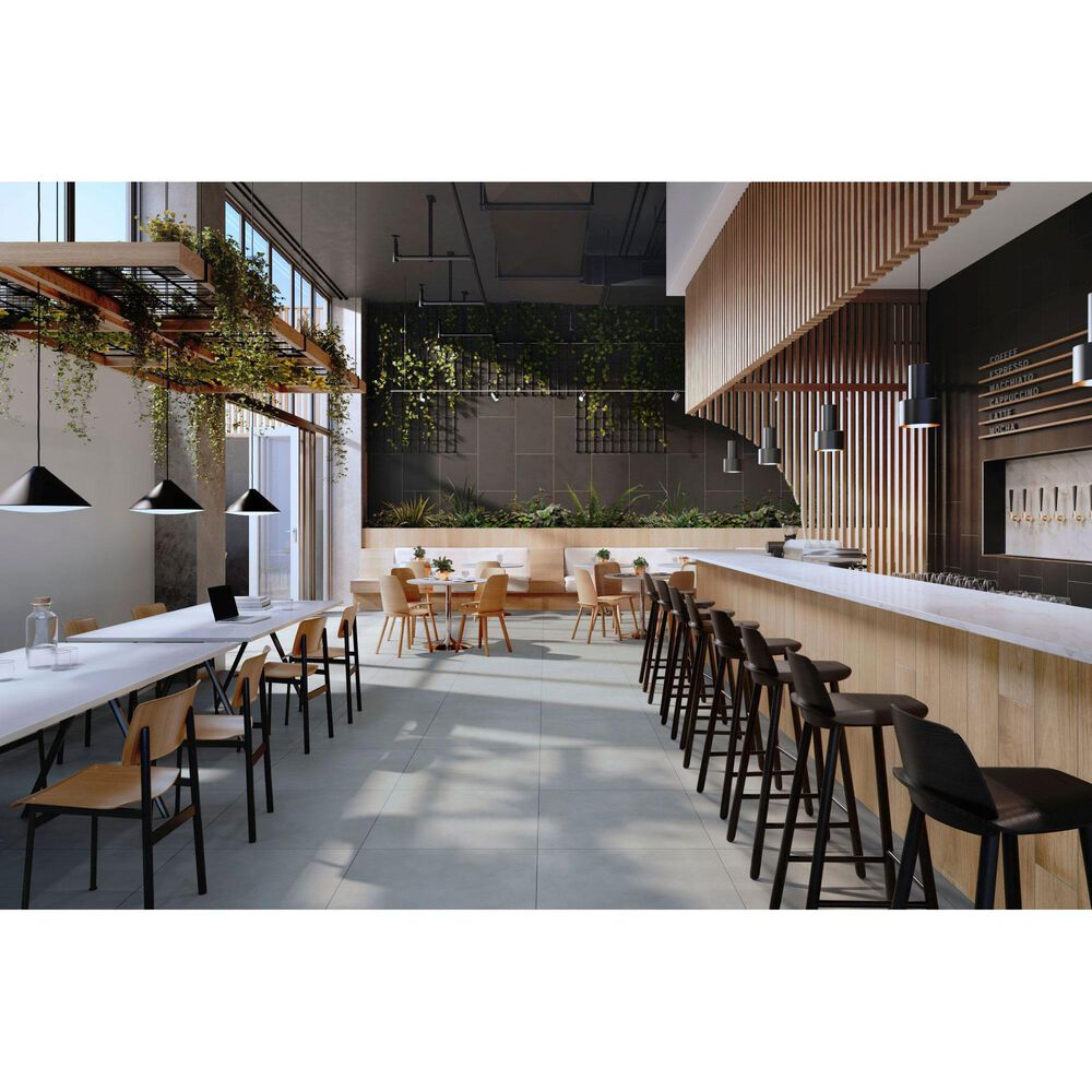 "Emser Building Blocks Concrete Silver 29"" x 29"" Porcelain Tile, , large"