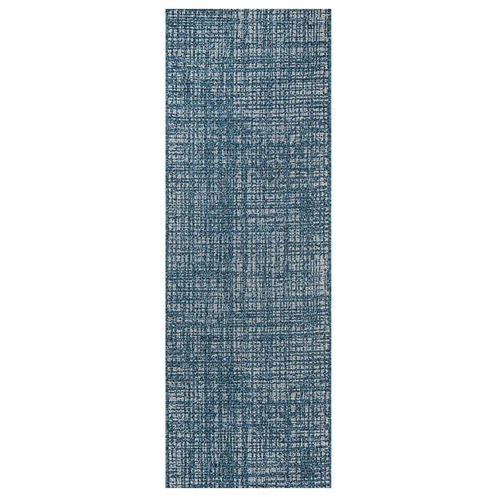 Momeni Como 2' x 6' Blue Indoor/Outdoor Runner, , large