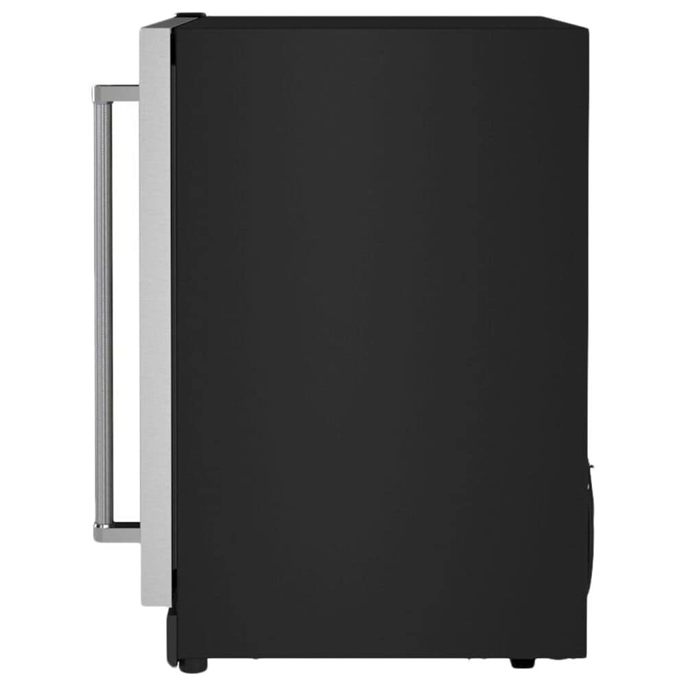 """KitchenAid 24"""" Undercounter Wine Cellar with Left Hinge, Wood-Front Racks in Black and Stainless Steel, , large"""