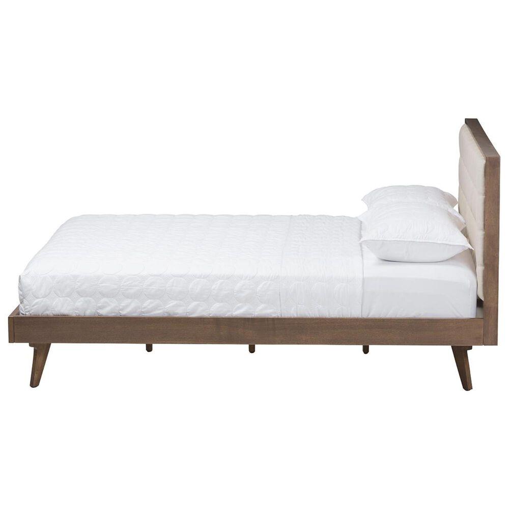 Baxton Studio Soloman King Platform Bed in Light Beige/Brown, , large