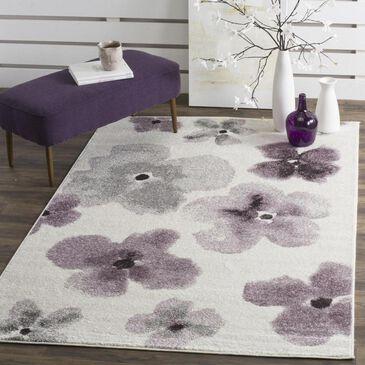 """Safavieh Adirondack ADR123L 5'1"""" x 7'6"""" Ivory and Purple Area Rug, , large"""