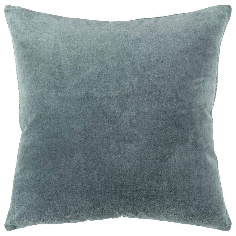 """Rizzy Home Transitional Solid 22"""" Pillow in Teal, , large"""