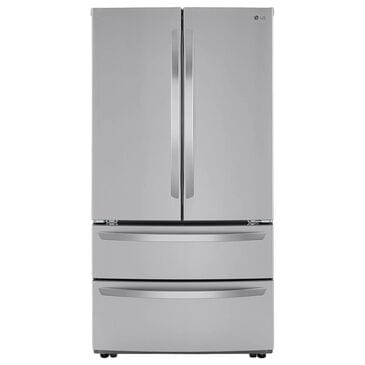 LG 23 Cu. Ft. French Door Counter Depth Refrigerator with Double Freezer Drawers in Stainless Steel, , large