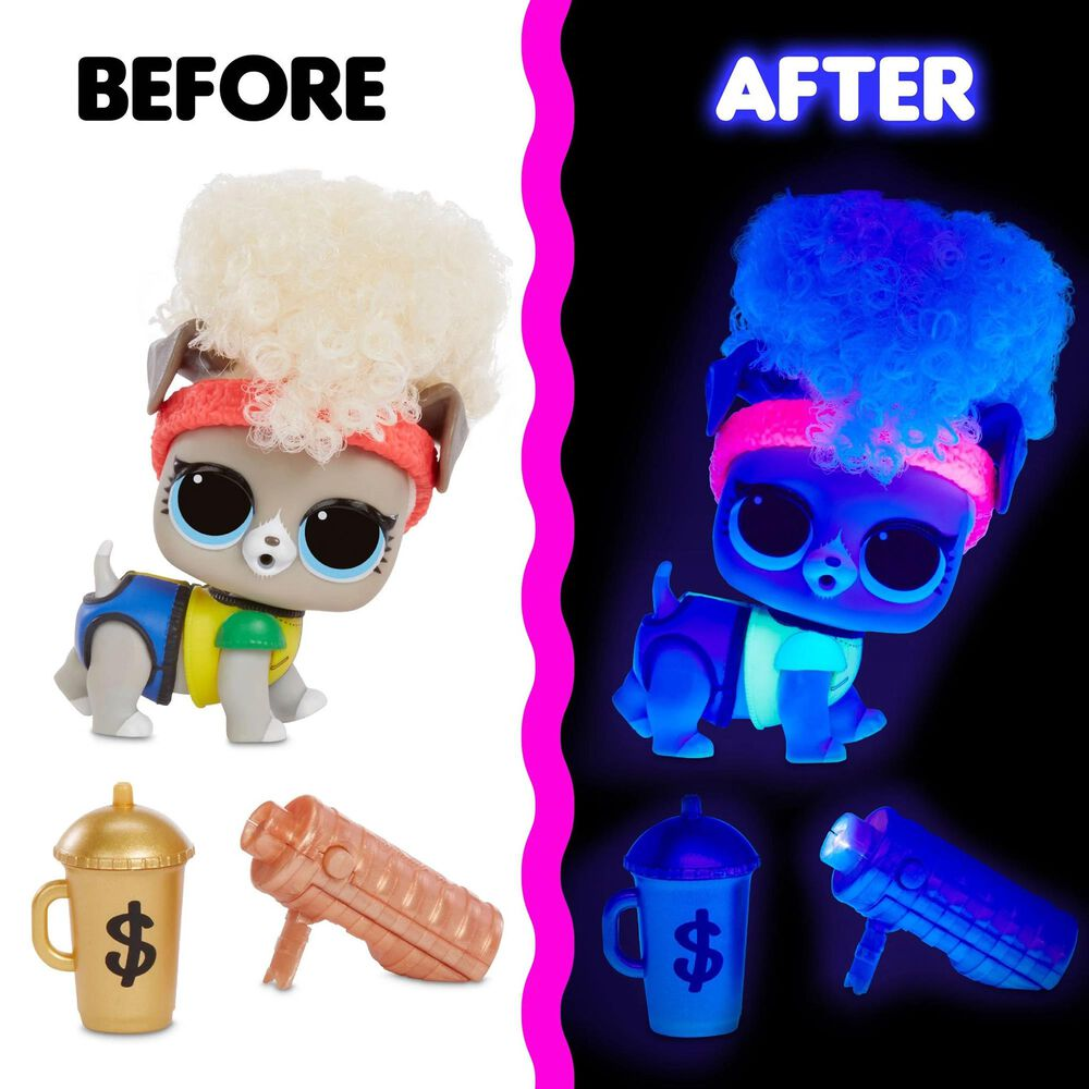 Kids Namo Entertainment LOL Lights Pets with Real Hair and 9 Surprises Including Black Light Surprises, , large