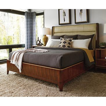 Lexington Furniture Take Five Empire California King Bed with Ivory Upholstered in Rosewood, , large