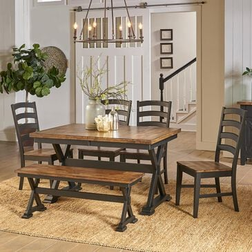 A-America Stone Creek 6-Piece Dining Set in Chicory and Slate Black, , large