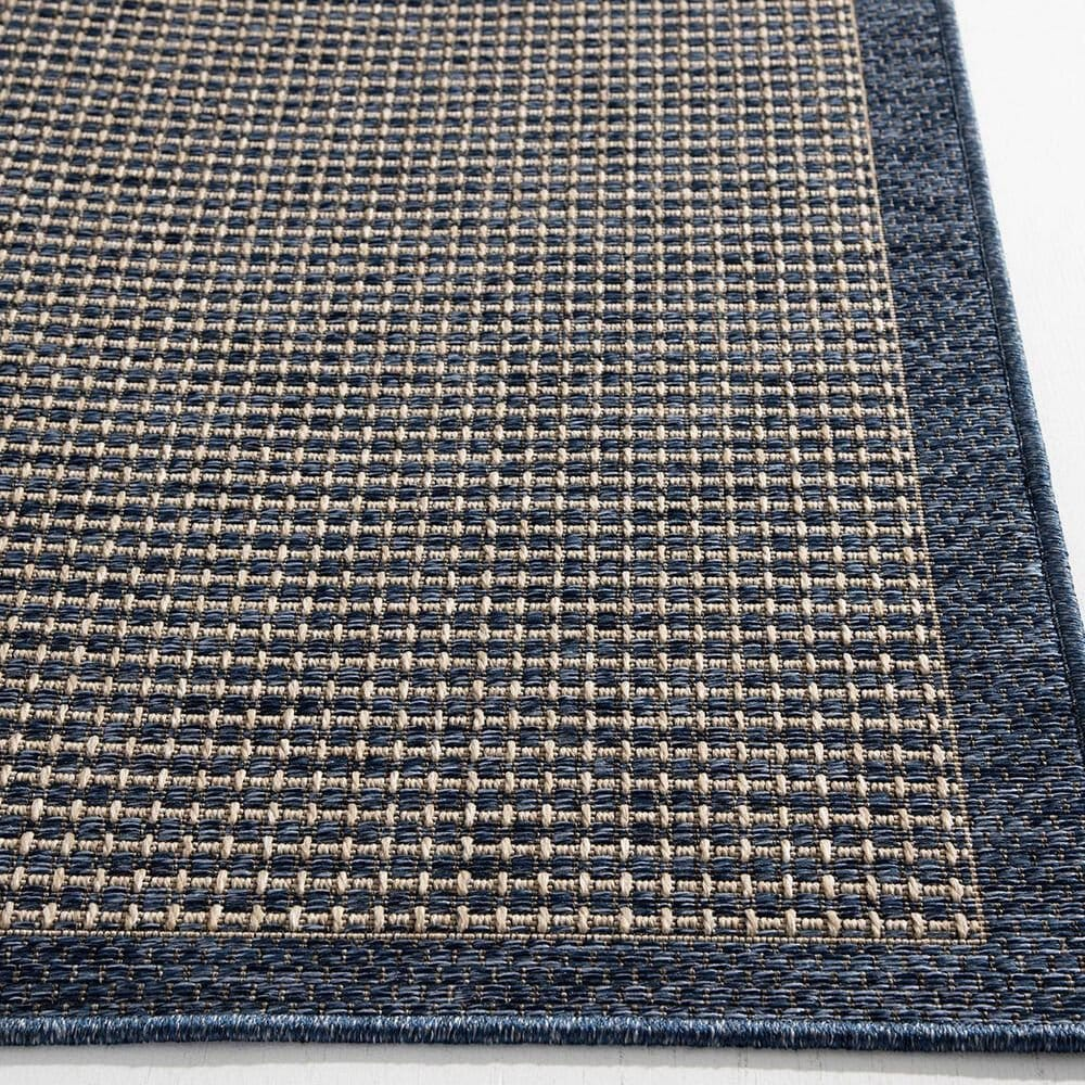 "Trisha Yearwood Rug Collection Gather Avola 6'7"" x 9'6"" Cobalt and Natural Outdoor Rug, , large"