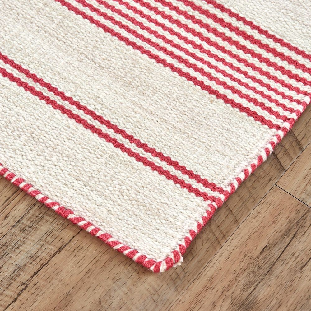 Feizy Rugs Duprine 8' x 11' Pink and Ivory Area Rug, , large