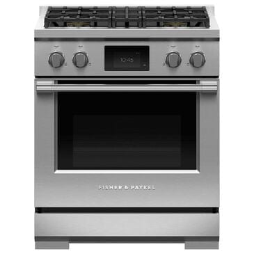 """Fisher and Paykel 30"""" Professional Dual Fuel Range with Liquid Propane in Stainless Steel, , large"""