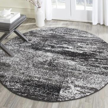 Safavieh Adirondack ADR112A 6' Round Silver and Black Area Rug, , large
