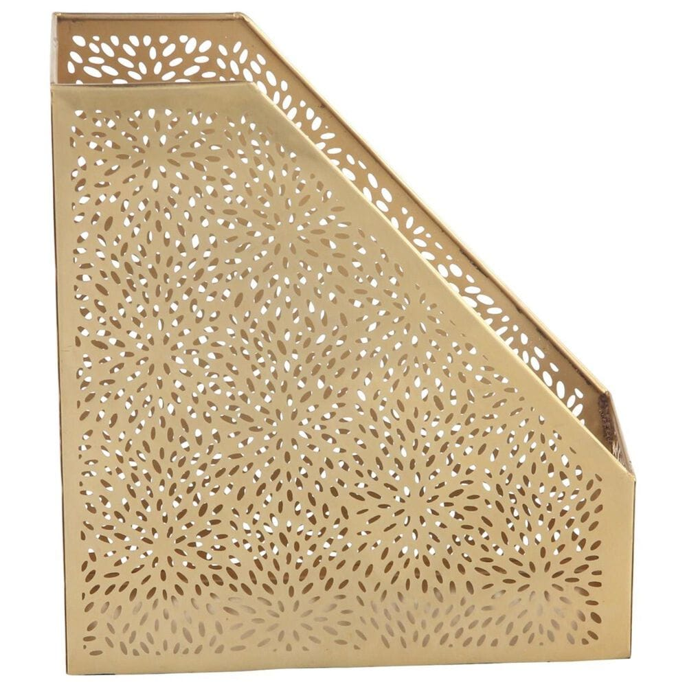 "Maple and Jade 12"" Magazine Holder in Gold, , large"