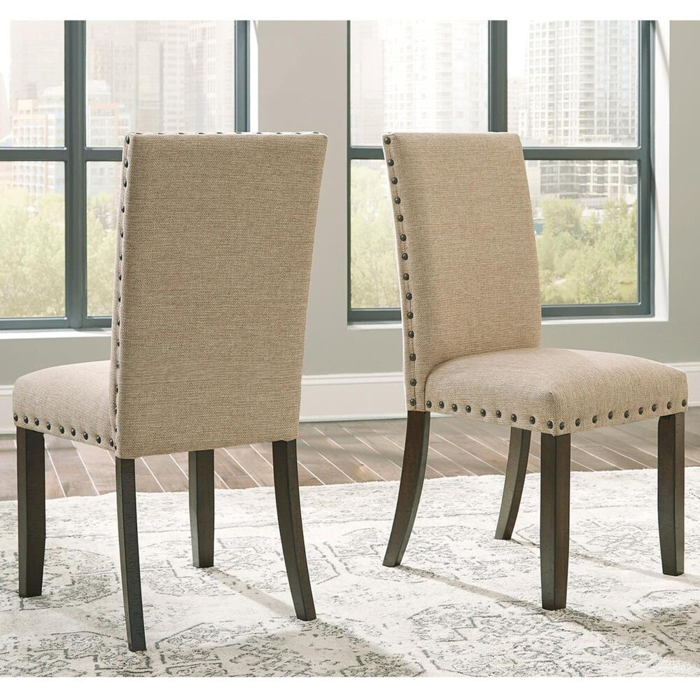 Signature Design by Ashley Rokane Upholstered Side Chair in Light Brown, , large