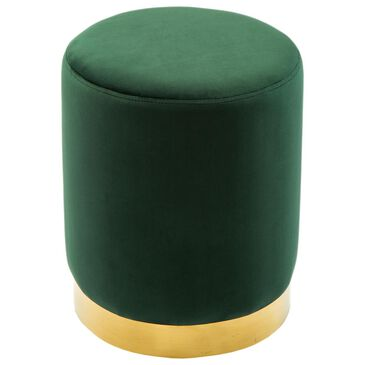 Tov Furniture Pri Ottoman in Forest Green, , large