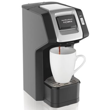 Hamilton Beach FlexBrew Single-Serve Coffee Maker with Water Reservoir and View Window, , large