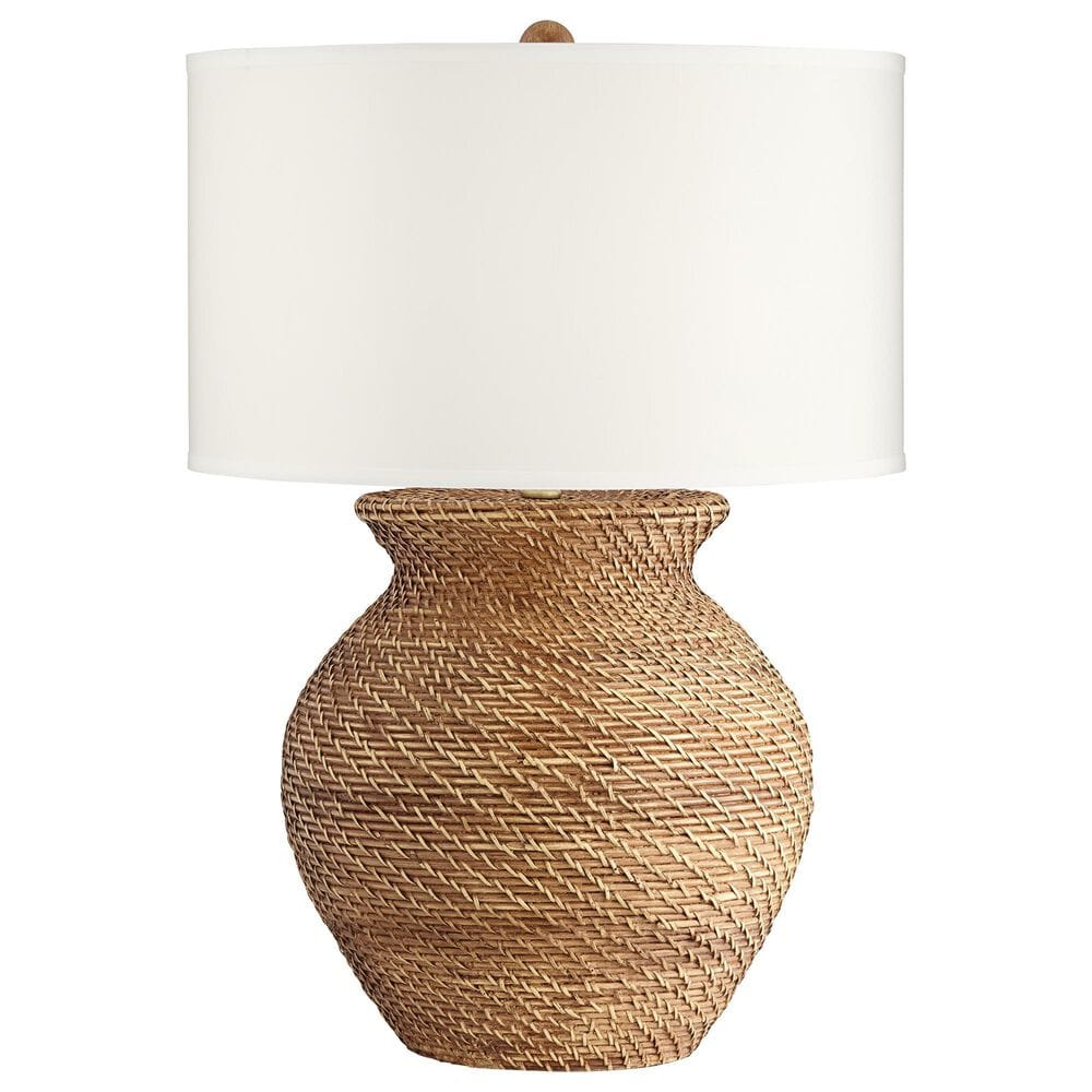 Pacific Coast Lighting Tinley Table Lamp in Brown Weave, , large